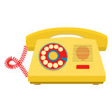 Object retro telephone, old rotary phone Stock Images