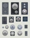 Object set - audio speakers Stock Image