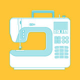 Object sewing machine. line design Royalty Free Stock Image
