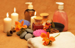 Object for the spa with candle Royalty Free Stock Images