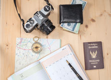 Object travel stuff Royalty Free Stock Images