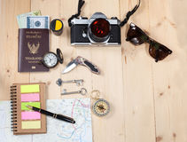 Object travel stuff Stock Photography