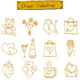 Object valentine day icons vector art Royalty Free Stock Image