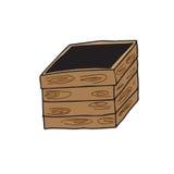 Object wood box Royalty Free Stock Image