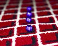 Objecte le bleu coloré dans une photographie de fond de vue de colonne Image libre de droits