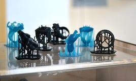 Objecte le photopolymer imprimé sur une imprimante 3d Photographie stock libre de droits