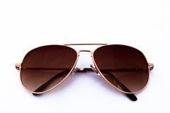 Objecten elegante die zonnebril op het wit wordt geïsoleerd Stock Afbeelding