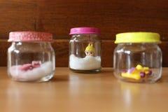 Objecten met de hand gemaakt glas Stock Foto