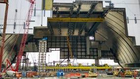 objectez l'abri à la centrale nucléaire de Chernobyl Image stock
