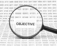 Objectief concept stock fotografie