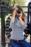 Objectif Photos stock