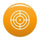 Objectif d'orange de vecteur d'icône de cible illustration stock