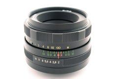 Objectif d'un appareil-photo de photo. 2 d'isolement Image stock