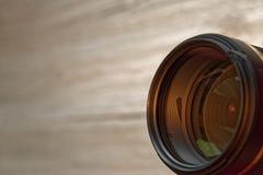 Objectif de caméra aligné vers l'observateur images libres de droits