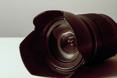 Objectif de caméra d'or photos libres de droits