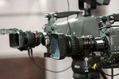 Objectif de caméra de deux plans rapprochés Photos libres de droits