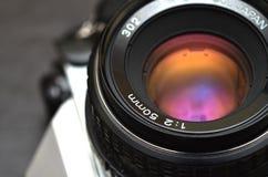 Objectif de caméra de film de vintage Photo libre de droits