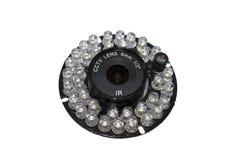 Objectif de caméra entouré par la LED infrarouge photographie stock libre de droits