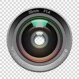 Objectif de caméra fortement détaillé de vidéo ou de photo illustration de vecteur
