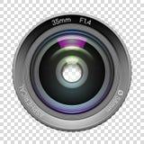 Objectif de caméra fortement détaillé de vidéo ou de photo illustration libre de droits