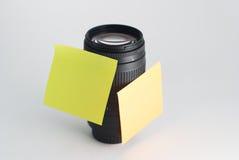 Objectif de caméra noir, Photos stock