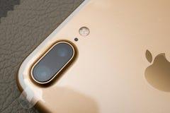 Objectif de caméra d'Iphone 7 Photographie stock libre de droits