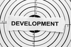 Objectif de développement Photographie stock libre de droits
