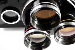 Objectifs d'un appareil-photo de film Image libre de droits