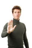 Objection gesture Royalty Free Stock Image