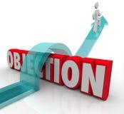 Objection Overcoming DIspute Challenge Negative Feedback Arrow O Stock Image
