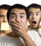 ?Objectivas triplas choc e surpreendidas? Imagem de Stock Royalty Free