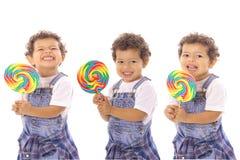 Objectivas triplas do Lollipop Imagens de Stock Royalty Free