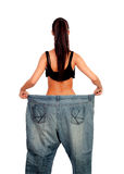 Objective achieved. Woman at her ideal weight Royalty Free Stock Photos