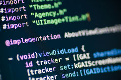 Objective C code lines Royalty Free Stock Photography