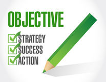 Objective check list illustration design Royalty Free Stock Photography