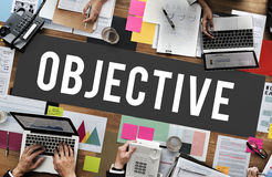 Objective Development Intention Purpose Vision Concept Stock Photography