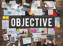 Objective Development Intention Purpose Vision Concept. Business Objective Purpose Intention Concept royalty free stock photo