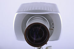 Objective directed at object. Objective of video camera directed at object Royalty Free Stock Images