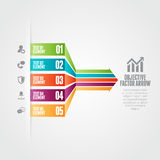 Objective Factor Arrow. Vector illustration of objective factor arrow infographic design elements Royalty Free Stock Photography