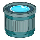 Objective icon, cartoon style. Objective icon. Cartoon illustration of objective vector icon for web Stock Photos