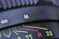 Objective lens closeup Stock Image
