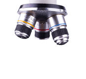 Objective Lens of Microscope Isolated on the White Background Royalty Free Stock Image