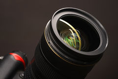 Objective with lense reflections Royalty Free Stock Photos