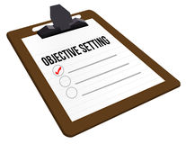 Objective Setting clipboard Stock Photos