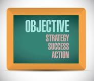 Objective steps on a board illustration Stock Photo