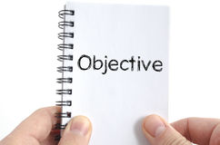 Objective text concept royalty free stock photos