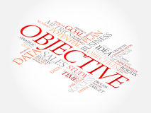 Objective word cloud Stock Image