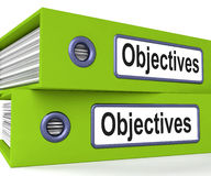 Objectives Folders Mean Business Goals And Targets Stock Photography