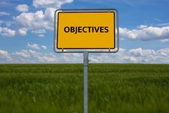 OBJECTIVES - image with words associated with the topic EXTREMISM, word, image, illustration stock image