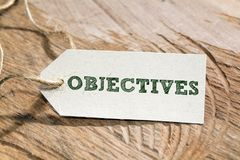 Objectives stock photos